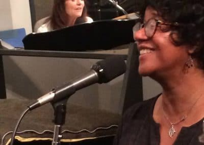 Andrea Ross-Greene and Harriet Schock at Theta Sound Studio LIVE! (photo by Kaci Christian)