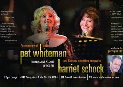 Pat Whiteman & Harriet Schock at Vitello's