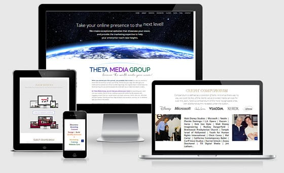 Theta Media Group website design and digital marketing